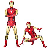 Iron Man Body BodySuit Adultes Kids Costumes Costumes Costumes Halloween Fancy...