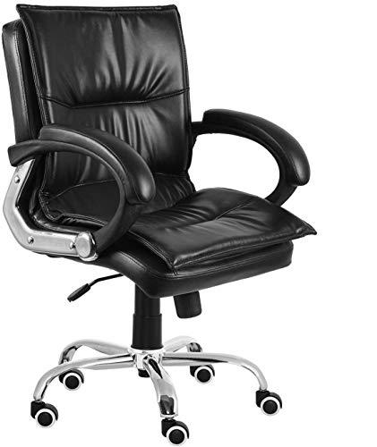 Da URBAN® Miller Medium Back revolving Office Chair (Black) (1Pc)