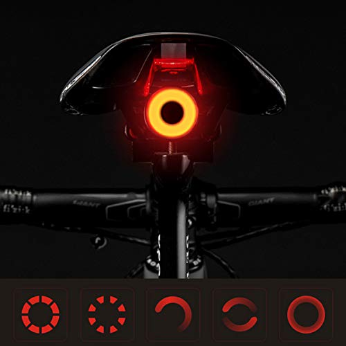 YOKOO Fahrrad-Rücklicht Ultra hell (5 Lichtmodi), IPX6 wasserdicht, USB wiederaufladbar, Fahrrad-Rücklicht