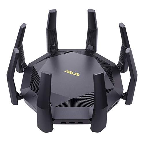 ASUS RT-AX89X - Router Wi-Fi 6 AX6000 con Doble banda, 12 streams, tecnologías MU-MIMO, OFDMA, AiProtection Pro con tecnología Trend Micro, QoS adaptable y con puerto de 10G