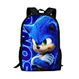 XINFA Mochila Sonic 12 Inch Whereisart Backpack Hot Game Sonic 4 The Hedgehog Pattern Students School Bags Cartoon Anime Teenagers Book-Bags