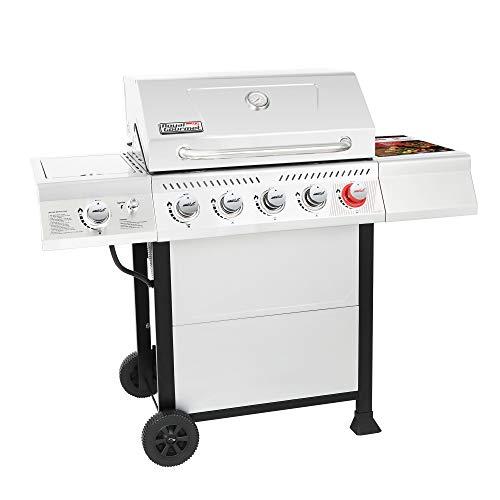 Product Image 1: Royal Gourmet GA5401T 5-Burner BBQ Liquid Propane Gas Grill with Sear Burner and Side Burner, <a href=