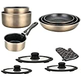 Herzberg Batterie de cuisine - lot de casserole induction - set...