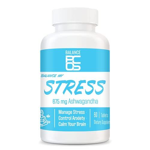 Balance My Stress Ashwagandha Supplements – Organic...