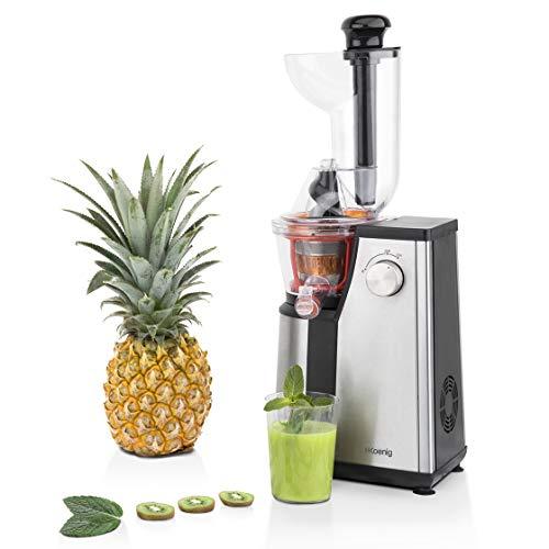Extracteur de Jus de Fruits et Légumes vertical GSX18 H.KoenigCentrifugeuse Vitamin + sans BPA - 82 mm Large Bouche - Pression douce - 60 tours 400 W