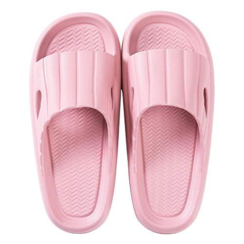 Sandalias de Playa Piscina Mujer Zapatos Plataforma Baño Ducha Chanclas Antideslizante Mujer Zapatillas Verano Casa 39/40 EU,Rosa