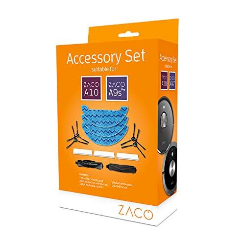 ZACO A9sPro, A10, Zubehör-Set Saugroboter-Wischtücher, Filter, Seitenbürsten, Hauptbürste