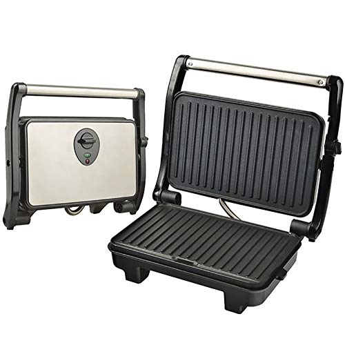 Lin Tragbarer Elektrischer Grill Aufklappen Um 180 Grad Möglich Kann Auf Beiden Seiten Grillen, 2000W Kontaktgrill,