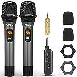VeGue Microphone sans fil UHF avec récepteur rechargeable pour karaoké,...