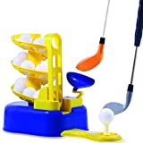 heytech Golf Toys Set Golf Ball Training Machine Sports Gaming Learning, Active, Early Educational, Outdoors Exercise Toy (Yellow)