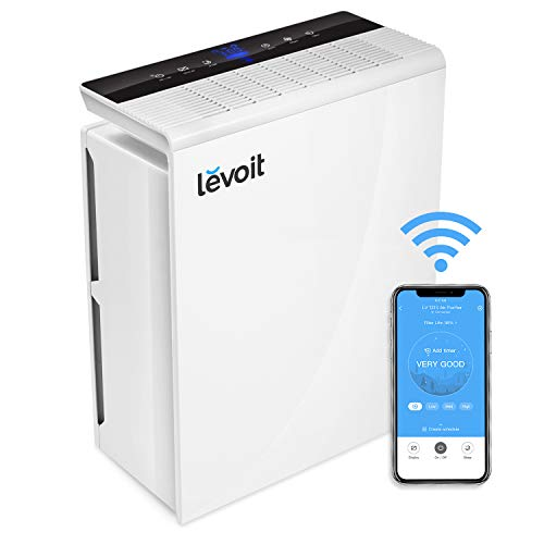 LEVOIT Smart Wi-Fi Air Purifier for Home True HEPA Filter, Smoke Eater and Odor Eliminator, Cleaner for Allergies...