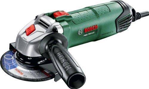 Bosch Winkelschleifer PWS 750-115 (750 Watt, Schleifscheiben-Ø 115 mm, im Koffer)
