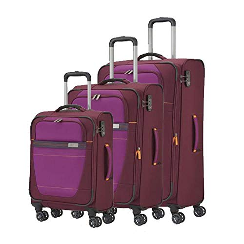 "Travelite ""Meteor\"" 3 pcs Koffer-Set, 77 cm, 105 liters, Rot, 89440-17"