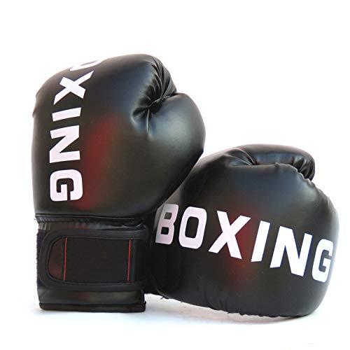 FUMEI Guantoni Boxe, Guanti da Boxe per Bambini, Muay Thai, Kickboxing, 6oz (Nero-02)