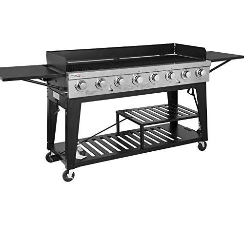 Product Image 1: Royal Gourmet GB8000 8-Burner Liquid Propane Event Gas Grill, BBQ, Picnic, or Camping Outdoor, Black