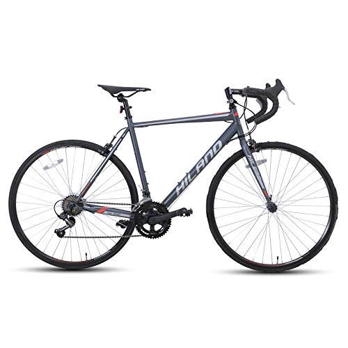 Hiland Road Bike 700C Racing Bicycle with 14 Speeds Black 50cm