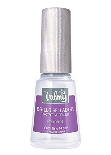 Valmy Brillo Sellador de Esmalte de Uñas para Prolongar la Duración de la Manicura y Pedicura, 14 ml