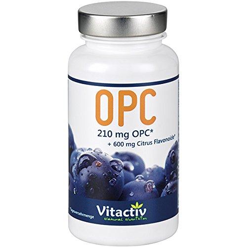 OPC TRAUBENKERNEXTRAKT, mit 105 mg echtem OPC pro Kapsel, das stärkste Anti-Oxidant in Höchstdosierung, für Herz-Kreislauf-System, Augen, Gelenken und geistige Vitalität (100 Kapseln)