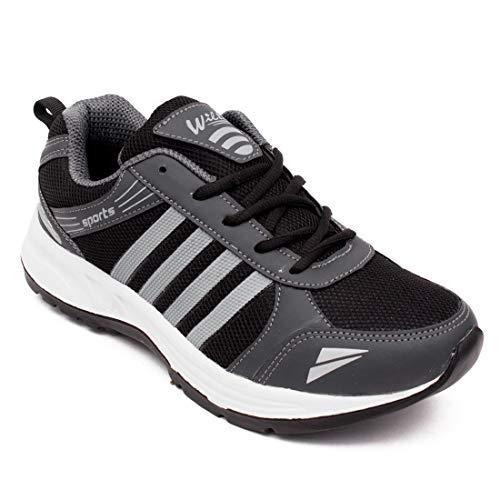 ASIAN Wonder-13 Black Silver Running,Sports,Walking Shoes for Men UK-8