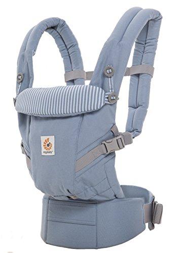 Ergobaby Babytrage fr Neugeborene bis Kleinkind Azure Blue, Adapt 3-in-1 Tragesystem Ergonomisch, Baby-Tragetasche Kindertrage