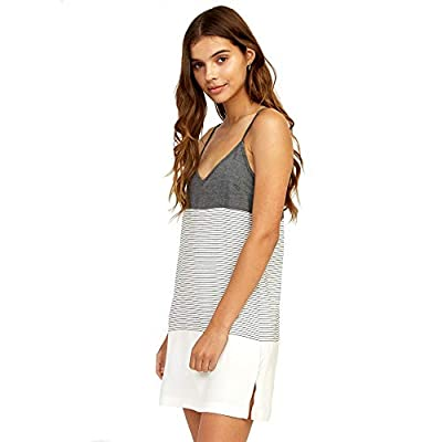 Woven yarn dye slim fitting mini dress with bodice seam details Chunky straps, side slits, open back with tie and a hidden back zip