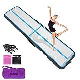 HIJOFUN Air Floor Track 3M 4M 5M 6M Tapis de Gymnastique Gonflable avec Pompe...