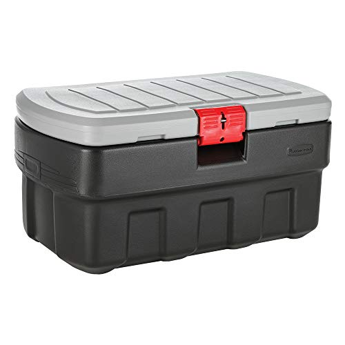 Rubbermaid ActionPacker 35 Gal Lockable Storage Bin, Industrial, Rugged Storage Container with Lid