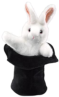 Made using the highest quality materials Award winning design Great fun for toddlers and children Easily animate the engaging Magician Rabbit in Hat plush hand puppet Ideal for stage and puppet theater, storytelling, teaching, daycare, pre-school, pr...