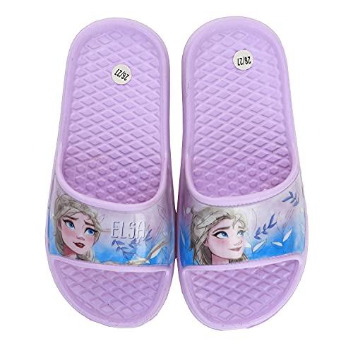 Frozen Movie Disney - Bambina - Ciabatte con Fascia Sandalo Mare Piscina Doccia - Prodotto Originale [13629 Viola - 24]