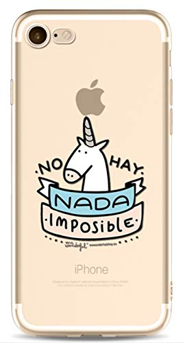 Phone Kandy® Claro transparente lindo lindo unicornio TPU ultra fino suave caso de silicona y protector de pantalla carcasa funda (iPhone 6 PLUS, No hay Nada)