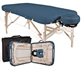 "EARTHLITE Premium Portable Massage Table Package SPIRIT - Spa-Level Comfort, Deluxe Cushioning incl. Flex-Rest Face Cradle & Strata Face Pillow, Carry Case (30/32"" x 73"") - Made in USA, Mystic Blue"