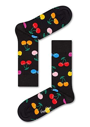 Happy Socks Cherry Sock Calze, Nero (Black 900), 4/7 (Taglia Produttore: 36-40) Donna