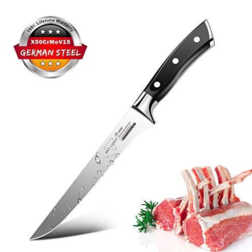 Ausbeinmesser Filetiermesser Fleischmesser Profi 14cm Kochmesser mit scharfer Klinge Küchenmesser Metzgermesser Ausbeiner Messer aus Deutsch Edelstahl