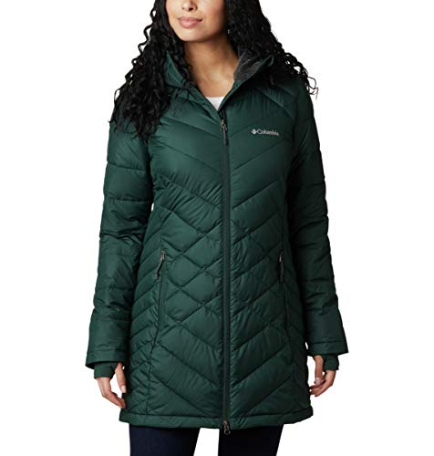 Columbia Women's Heavenly Long Hooded Jacket, Spruce, X-Small