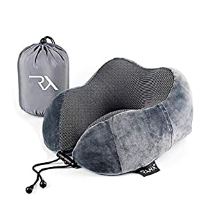► SOFT MEMORY FOAM - The Raha travel pillow moulds to your unique head and neck alignment reducing neck stiffness, adding comfort and softly easing the frustration of long journeys ► ADJUSTABLE DRAWSTRING - Making it a unique flight pillow, easy to u...