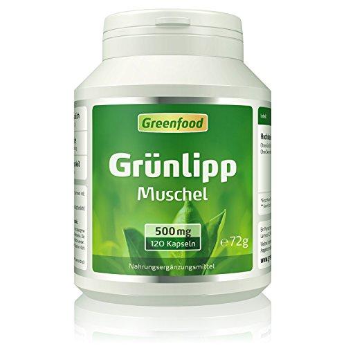 Grünlippmuschel, 500 mg, hochdosierter Extrakt, 120 Vegi-Kapseln – OHNE künstliche Zusätze. Ohne Gentechnik.