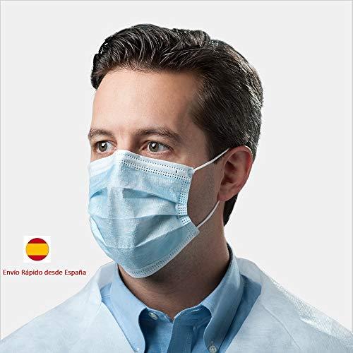 Maschera monouso chirurgica in polipropilene a 3 strati ed elastico 50 pezzi,