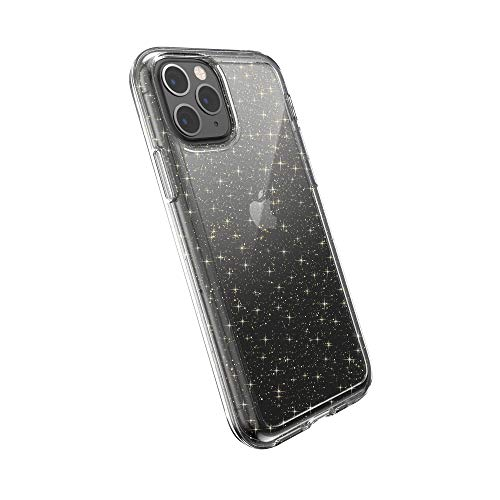 Speck Gemshell Glitter iPhone 11 Pro Case, Clear with Gold Glitter/Clear