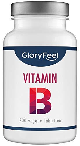 Gloryfeel | Vitamine B Complex | 200 tabletten | Hoge dosis | Bevat B1 B2 B3 B5 B6 B7 B9 en B12