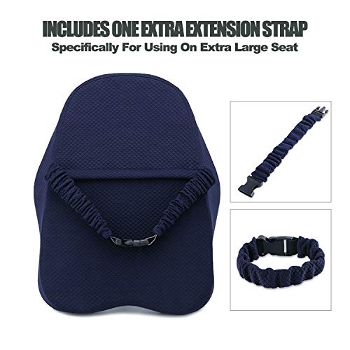 Product Image 5: matvio Back Support Pillow for Office Chair - Ergonomic Posture Corrector Pure Memory Foam Lumbar Cushion - Perfect Backrest for Car, Desk, Recliner Chair and Any Seat