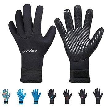 Neoprene Gloves for Snorkeling Diving Kayaking Surfing Spearfishing All Watersports (Black, M)
