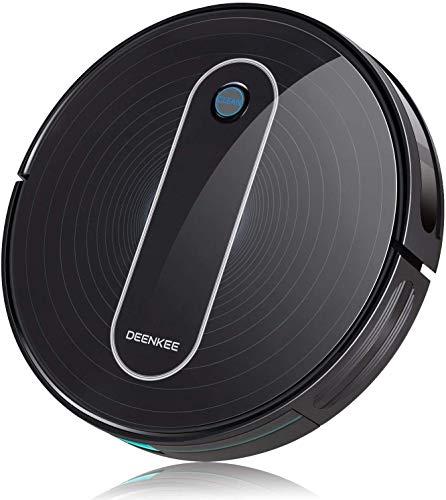 Robot Aspirapolvere, DEENKEE Aspirapolvere Robot 6 Modalità Di Pulizia, Con Telecomando, 55dB...