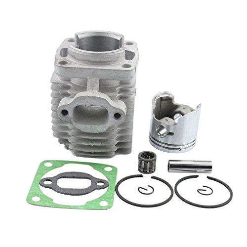 GOOFIT Cilindro Moto 40mm Testa Pistone y Guarnizioni per 43cc 47cc 49cc Motore 2 Tempi Mini Quad...