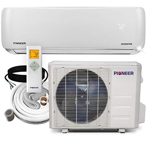 Pioneer Air Conditioner WYS012A-19 Wall Mount Ductless Inverter+ Mini Split Heat Pump, 12000 BTU-110/120V, White