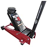 AFF Floor Jack, Dual Pump Hydraulic Car Lift System - 4 Ton Heavy Duty Capacity with Safety Bypass for Overload Prevention and Swivel Casters for Easy Movement, 400SS