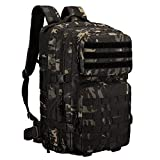 Huntvp 45L Sac à Dos Tactique Militaire Assault Pack Sac à Dos Molle...
