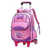 Y-longhair Mochila de senderismo, mochila para estudiantes, mochila con ruedas y lazo con impresión de princesa, mochila con múltiples compartimentos, para viajes al aire libre, descompresión, P
