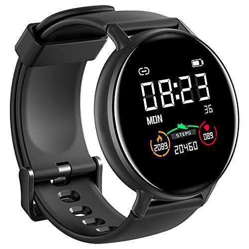 IOWODO Smartwatch Hombre Mujer con Oxímetro(SpO2), Reloj...