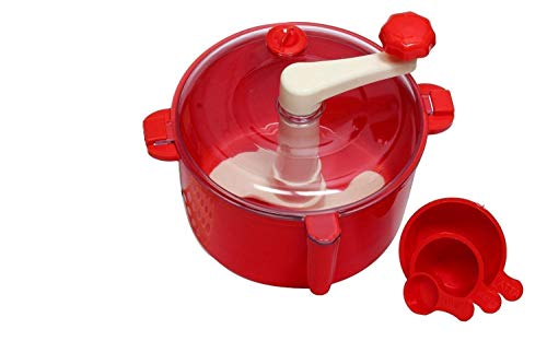 KhushiFab Plastic Automatic Atta Roti Maker for Home (Red)