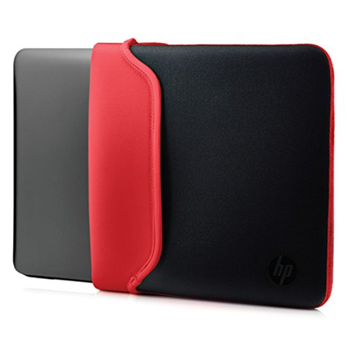 HP Custodia Sleeve Reversibile in Neoprene per Notebook fino a 15.6', Nero/Rosso